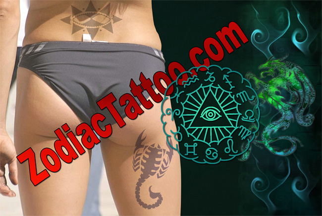 scorpion zodiac tattoo designs
